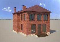 3D-визуализация кровли частного дома в г.Тула и Тульской области