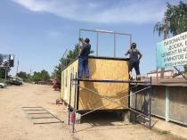 Изготовление и монтаж модульного торгового павильона