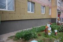 Монтаж системы наружной теплоизоляции фасада